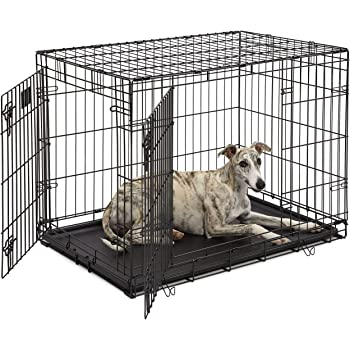 "Life Stages LS-1636DD Double Door 36"" Folding Crate with Divider for Intermediate Dogs(41 - 70lbs)"