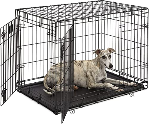 "Life Stages LS-1636DD Double Door 36"" Folding Crate with Divider for Intermediate Dogs (41 - 70Lbs)"