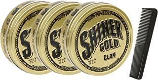 Shiner Gold Matte Clay Pomade 3 Pack
