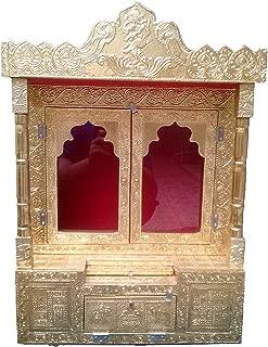 Dinesh Handicraft Golden Pooja Temple/Pooja mandir/mandapm/for Home