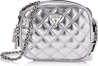 Guess Womens Cross-Body Handbag, Silver - MY767969
