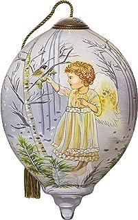 "Ne'Qwa Art, Winter Angel"" Artist Dona Gelsinger, Petite Princess-Shaped Glass Ornament, 7151130"