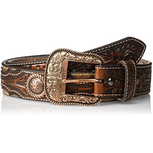 126cdc147 ARIAT Men's Copper Concho Ostrich Western Belt
