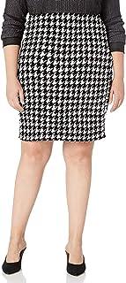 Star Vixen Women's Plus-Size Knee Length Classic Stretch Pencil Skirt