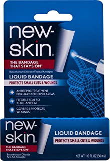 New-Skin Liquid Bandage, 1 Ounce - Liquid Bandage for Hard-to-Cover Cuts Scrapes Wounds Calluses and Dry Cracked Skin