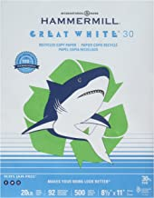 product image for Hammermill 86700 Recycled Print Paper, 92 Bright, 8.5 x 11, 500 Sheets/Ream, Pack of 10