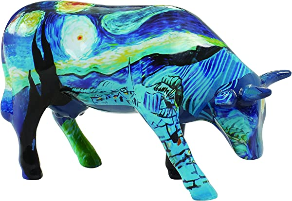 CowParade Vincet S Cow Medium Ceramic