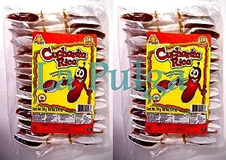 2 - Cucharita Rica Tamarind Flavored Mexican Candy Spoon Tamarindo 24 pcs Each