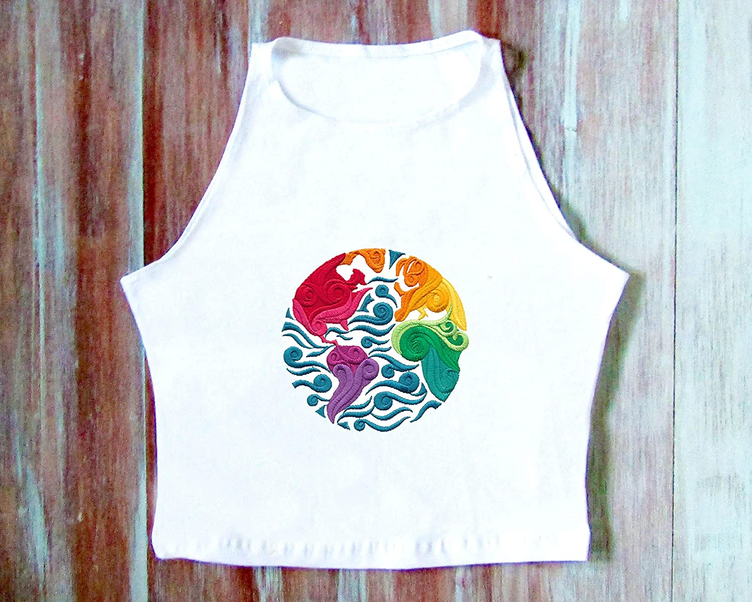 Hippie Earth Crop New York Mall Top-Hipster Top-Festival Cr Sale Clothing-Yoga