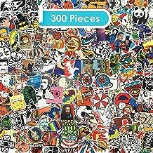 Zelbuck Paquete de Pegatinas 300-Pcs Kit de Impermeable Pegatinas Vinilos Adhesivos Sticker Pack para laptop, Coches, Motocicleta, Bicicleta, Equipaje, Monopatín -Regalo Ideal para Familiares y Amigos