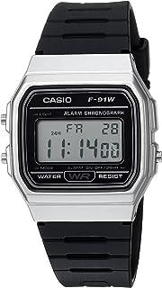 Casio Men's 'Classic' Quartz Metal and Resin Casual Watch, Color:Black (Model: F-91WM-7ACF)