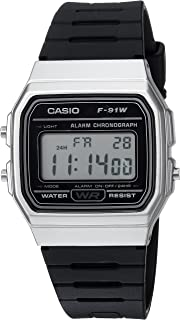 Men's Classic Quartz Watch with Resin Strap, Black, 18...