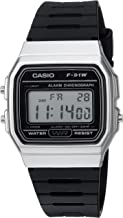 Casio Men's Classic Quartz Watch with Resin Strap, Black, 18 (Model: F-91WM-7ACF
