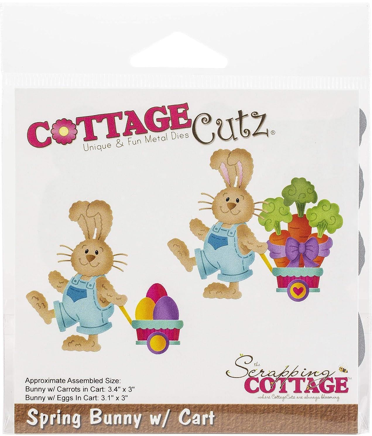 Cottagecutz Die-spring Bunny W/cart 3