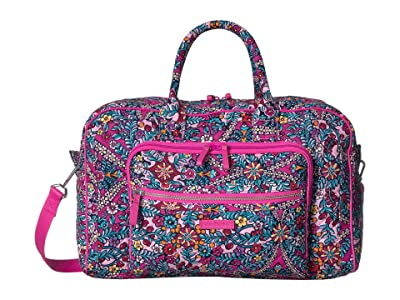 Vera Bradley Iconic Compact Weekender Travel Bag (Kaleidoscope) Weekender/Overnight Luggage