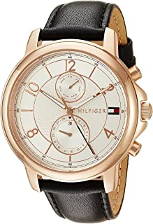 Tommy Hilfiger Women s Sophisticated Sport Gold Quartz Watch with Leather  Strap af688257596
