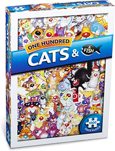 Paul Lamond 100 Cats And A Fish Puzzle 1000 Teile
