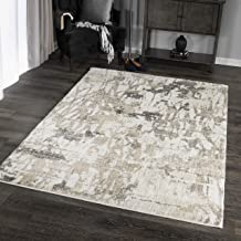 "product image for Orian Rugs Super Shag Collection 392371 Abstract Canopy Area Rug, 5'3"" x 7'6"", Ivory"