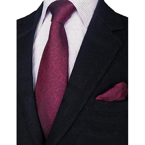 Lot of 10 Man/'s Black Satin Tie and Pocket Square Sets