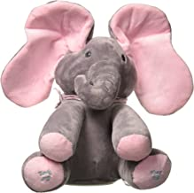 Emily Elephant Animated Plush Singing Elephant with Peek-a-boo Interactive Feature by Dimple
