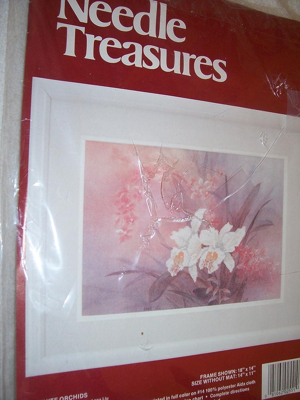 White Orchids Colorart Cross Stitch Kit