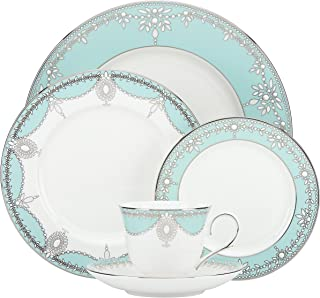 Lenox 5 Piece Marchesa Empire Pearl Place Setting Dinnerware Set, Turquoise