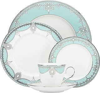Lenox 5 Piece Marchesa Empire Pearl Place Setting Dinnerware Set, Turquoise - 858480