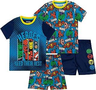 Marvel Pijamas de Manga Corta para niños 2 Paquetes