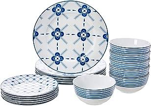 AmazonBasics 18-Piece Dinnerware Set - Cottage, Service for 6