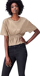 FIND Women's Metallic Rib T-Shirts