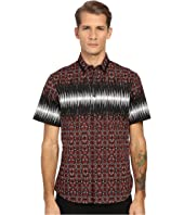 Just Cavalli - Nitik Print Short Sleeve Woven Crinkle Effect