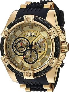 Invicta Bolt - Reloj casual de cuarzo para hombre, acero inoxidable y silicona, color azul (modelo: 25526)