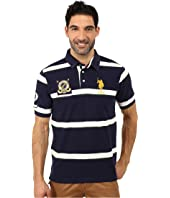 U.S. POLO ASSN. - Tri Color Stripe Pique Polo