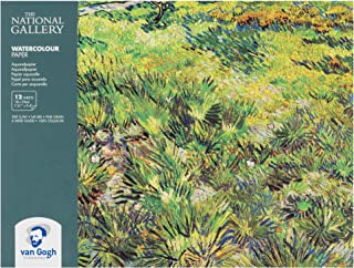 The National Gallery Van Gogh Watercolor Paper Block, 140lb, White Paper, 12 Sheets, 7.01