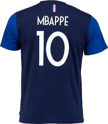 Equipe de FRANCE de football T-Shirt FFF - Kylian MBAPPE - Collection Officielle Taille Homme