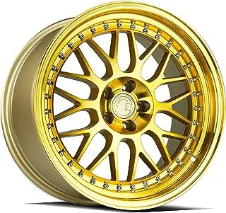 AodHan AH02 Wheel - Gold Machined Face: 18x9.5 Wheel Size; 5x100 Lug Pattern; 73.1mm Hug Bore; 30mm Off Set.