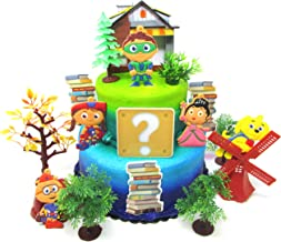 Super Why Birthday Cake Topper Set Featuring Super Why and Friends with Decorative Themed Accessories