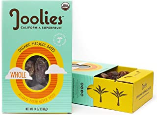 Joolies - Organic Medjool Dates, Whole (14 Ounce) - 2 Pack, California Grown, Good Source of Fiber