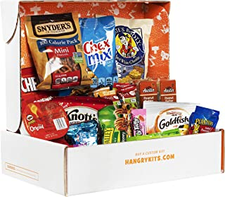 Hangry Kit Essential Kit, Care Package and Snack Pack Assortment for Everyone, Includes Peanuts, Crackers, Chips and Other Snacks, Perfect for Students, Athletes, Military, Women, Men, and Children