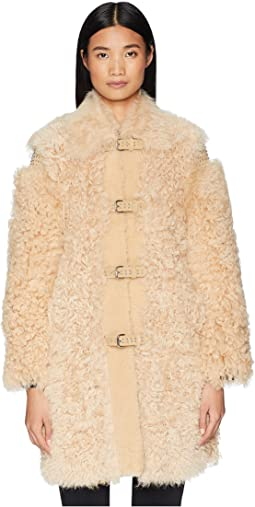 Kalgan, Shearling, Suede and Stud Coat