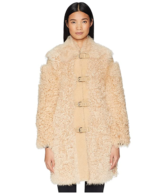 Kalgan, Shearling, Suede And Stud Coat by Red Valentino