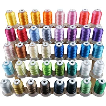 120D//2 - for Brother Babylock Janome Singer Pfaff 40 Weight 63 Spools Premium Polyester Embroidery Machine Thread