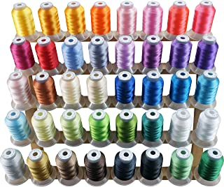 wooly polyester thread