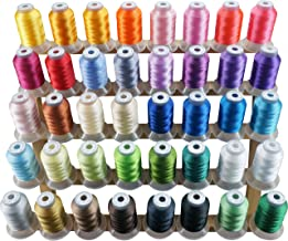 New brothread 40 Brother Colors Polyester Embroidery Machine Thread Kit 500M (550Y) Each Spool for Brother Babylock Janome...