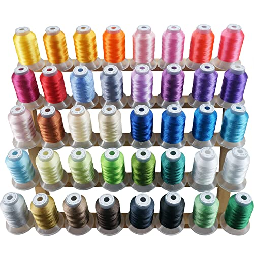 New Brothread 40 Brother Colors Polyester Embroidery Machine Thread Kit 500M (550Y) Each Spool