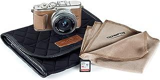 Olympus PEN E-PL10 Brown Camera Body with Silver M.Zuiko Digital 14-42mm F3.5-5.6 EZ Lens, Camera Case, Lens Cloth & SD Card