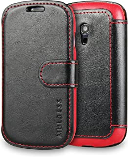 Galaxy S3 Mini Case Wallet,Mulbess [Layered Dandy][Vintage Series][Black] - [Ultra Slim][Wallet Case] - Leather Flip Cover with Credit Card Slot for Samsung Galaxy S3 Mini i8190