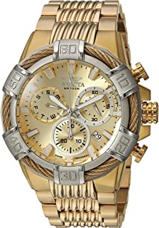 Invicta Men's Bolt Quartz Watch with Stainless-Steel Strap, Gold, 16 (Model: 25868