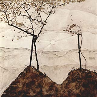 Home Comforts Peel-n-Stick Poster of Schiele, Egon - Autumn Sun and Trees Vivid Imagery Poster 24 x 16 Adhesive Sticker Poster Print