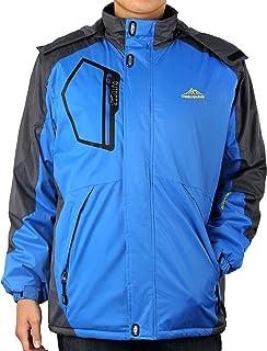 4How Men's Hooded Mountain Ski Jacket Waterproof Winter Coat